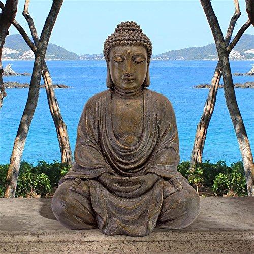 Design Toscano Meditative Buddha of The Grand Temple Garden Statue: Medium