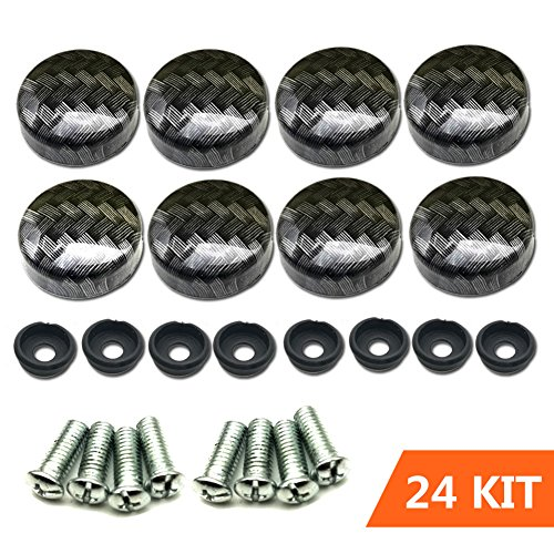 - Aootf License Plate Screw Caps Carbon Fiber Pattern for Matching Carbon Fiber License Plate Frame and Gift Plate Frame Screws 24 Kit