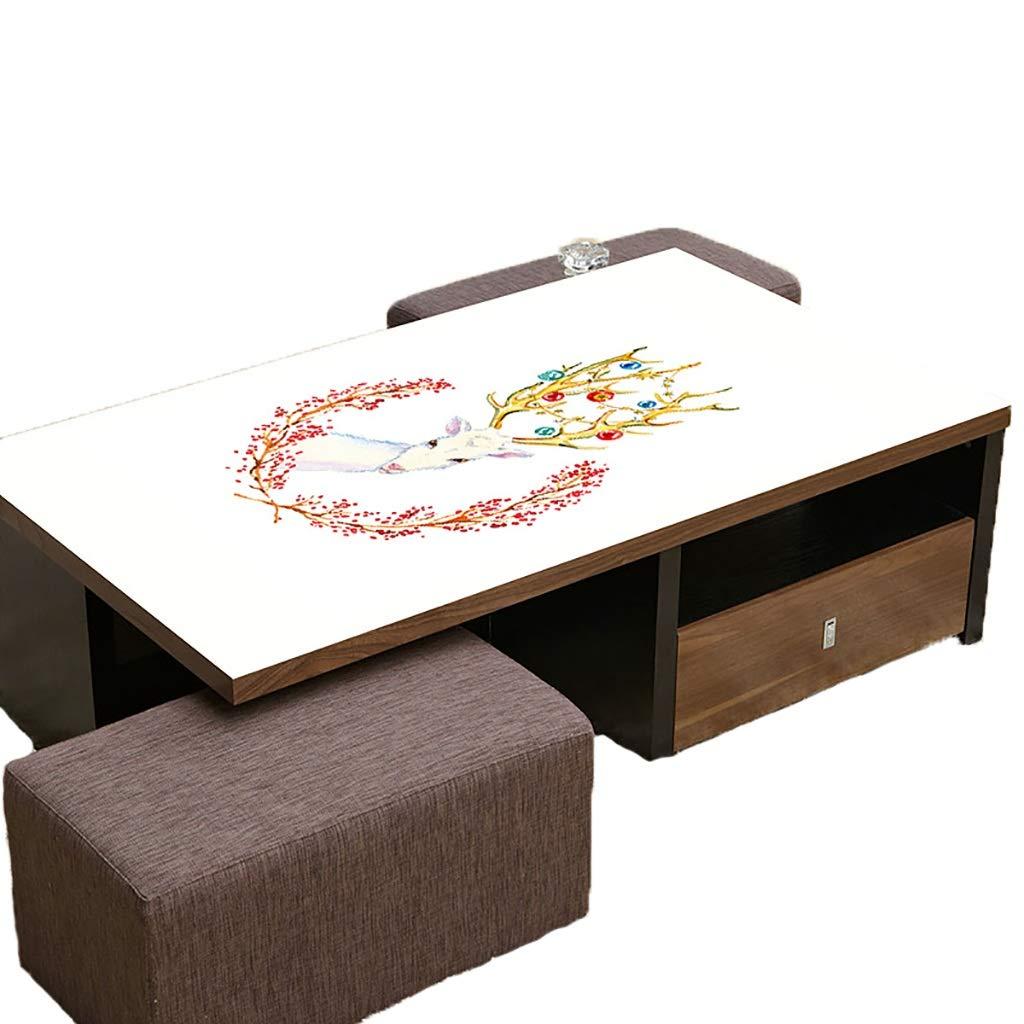 テーブルクロスソフトグラスPVC 70x120cm防水アンチホットアンチオイル簡単クリーンテーブルプロテクターコーヒーティーテーブルマットプラスチックテーブルクロス (サイズ さいず : 70x120cm) 70x120cm  B07S3S6WGM