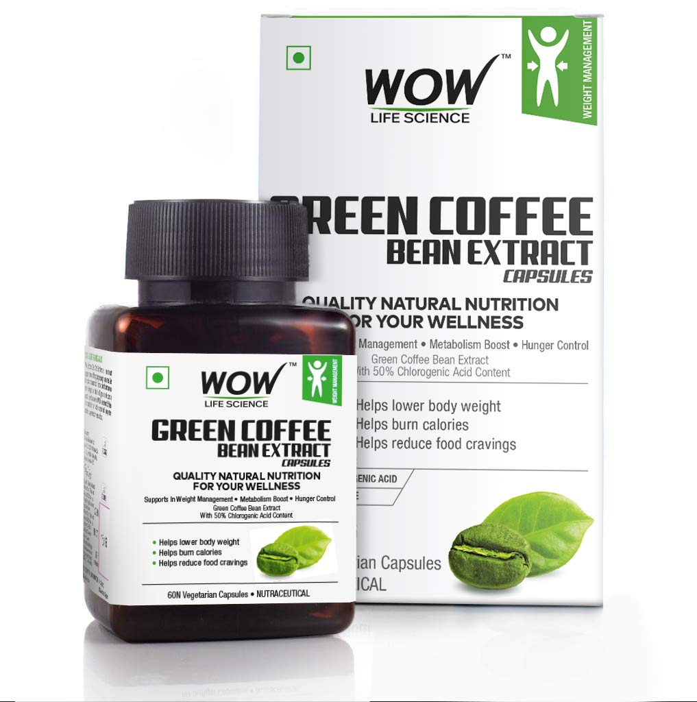 Wow Green Coffee Bean Extract Capsules 60 Count Buy Online In