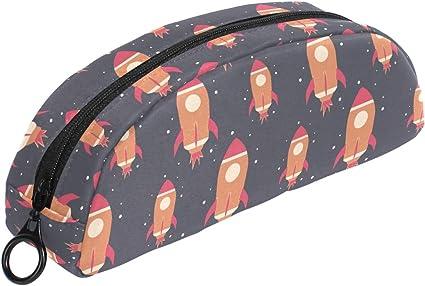 Universe - Estuche para lápices de naves espaciales con cremallera, tamaño pequeño, para niños y adolescentes: Amazon.es: Oficina y papelería