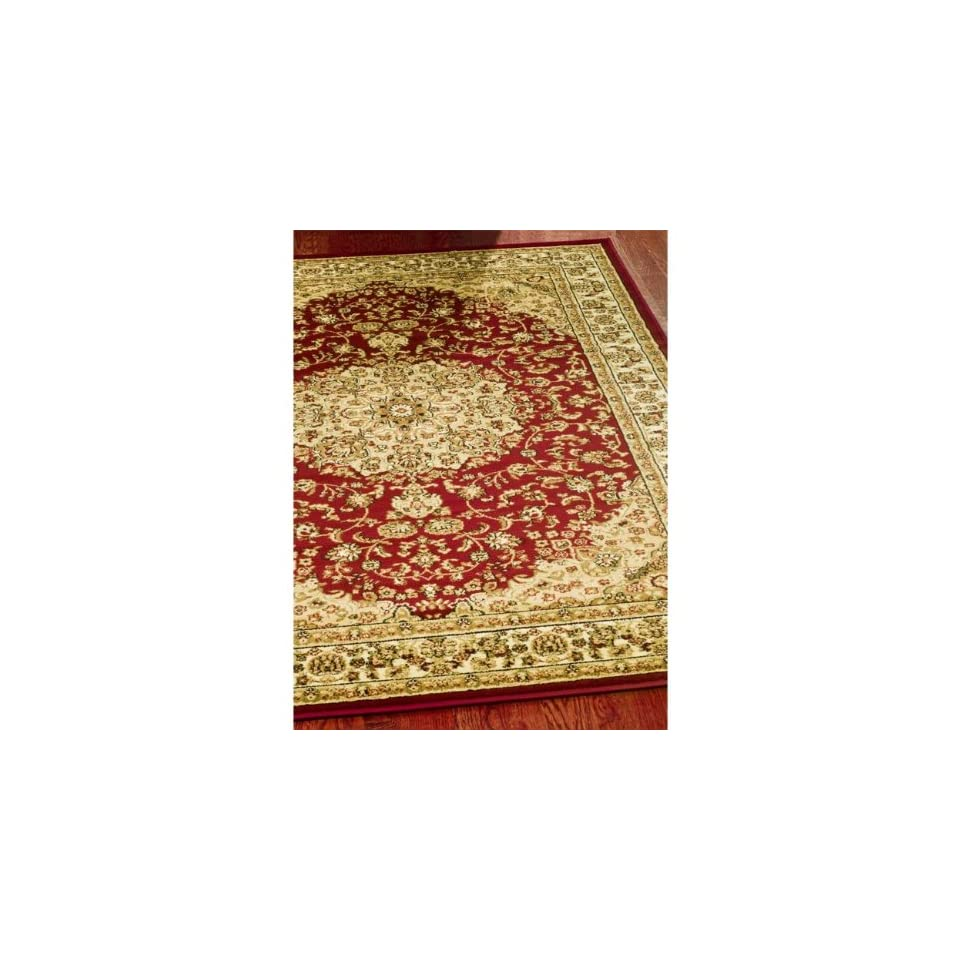 Safavieh Lyndhurst Collection LNH222B Traditional Oriental Medallion Red and Ivory Area Rug (6 x 9)