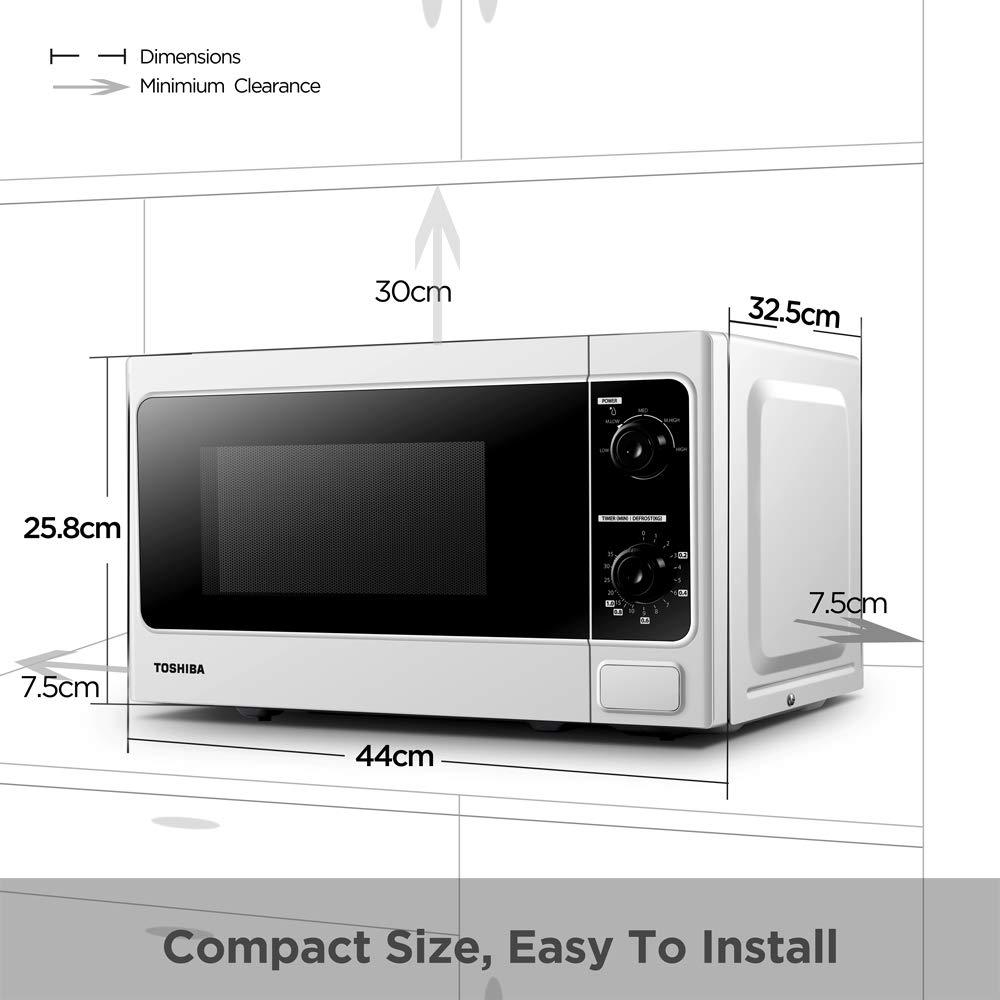 Toshiba Microwave Oven 20 Litre 800 Watt Mm Mm20p Wh