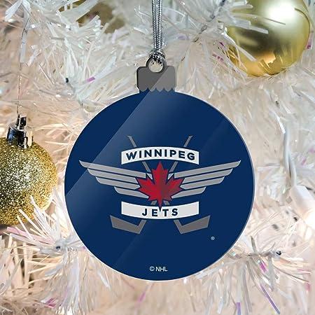 Handmade pottery hockey team Predators Christmas ornament