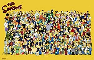 The simpsons full cast tv poster print 24x36 custom fit with richandframous - Tous les personnages des simpsons ...