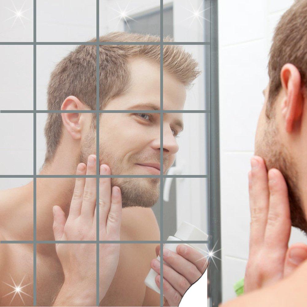 Marsoul 16pcs Set fai da te autoadesive parete a specchio ...