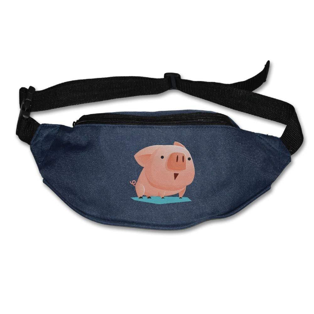 Waist Purse Lovely Pig Pink Unisex Outdoor Sports Pouch Fitness Runners Waist Bags