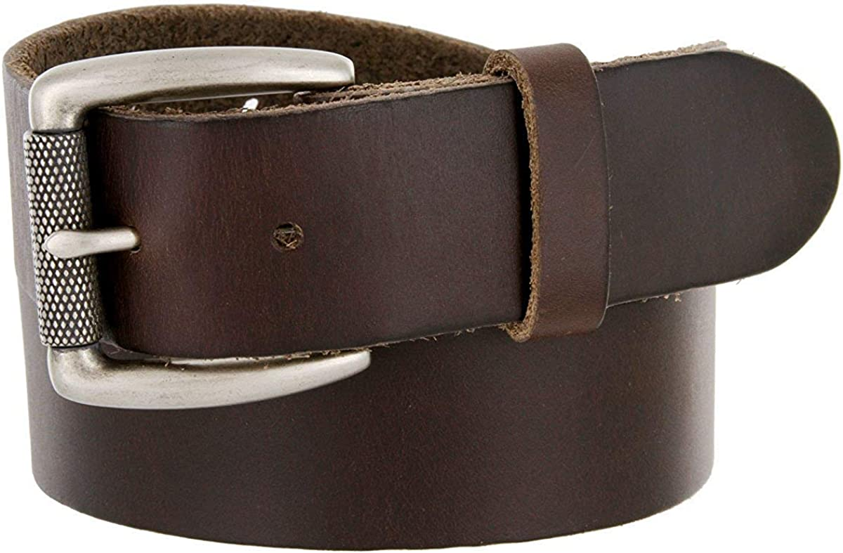 BBBelts Men 1-1//2 Wide Full Solid Leather Textured Roller Buckle Everyday Belt