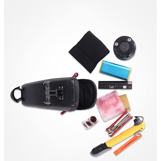 Amazon.com: Amyove Bolsa de sillín de Bicicleta a prueba de agua bolso trasero reflexivo Ciclismo trasero cola de asiento Grande bolso MTB accesorios de la ...