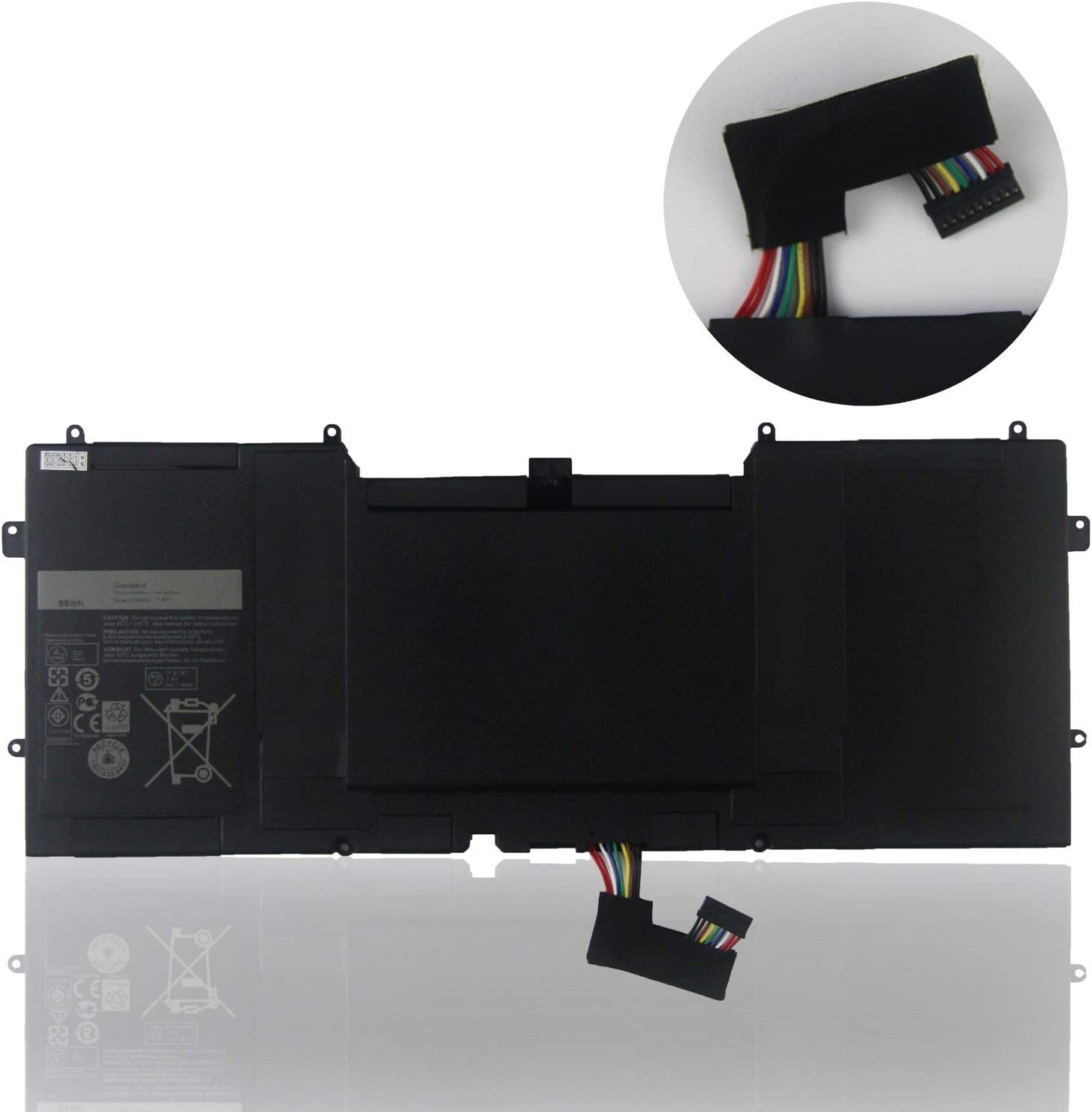 FLIW C4K9V Replacement Battery Compatible with Dell XPS 12 9Q33 -L221X 13 9333 Ultrabook 13 XPS13 13-L321X 13-L322X XPS L321X L322X Series 3H76R 489XN PKH18 [7.4V 55Wh]