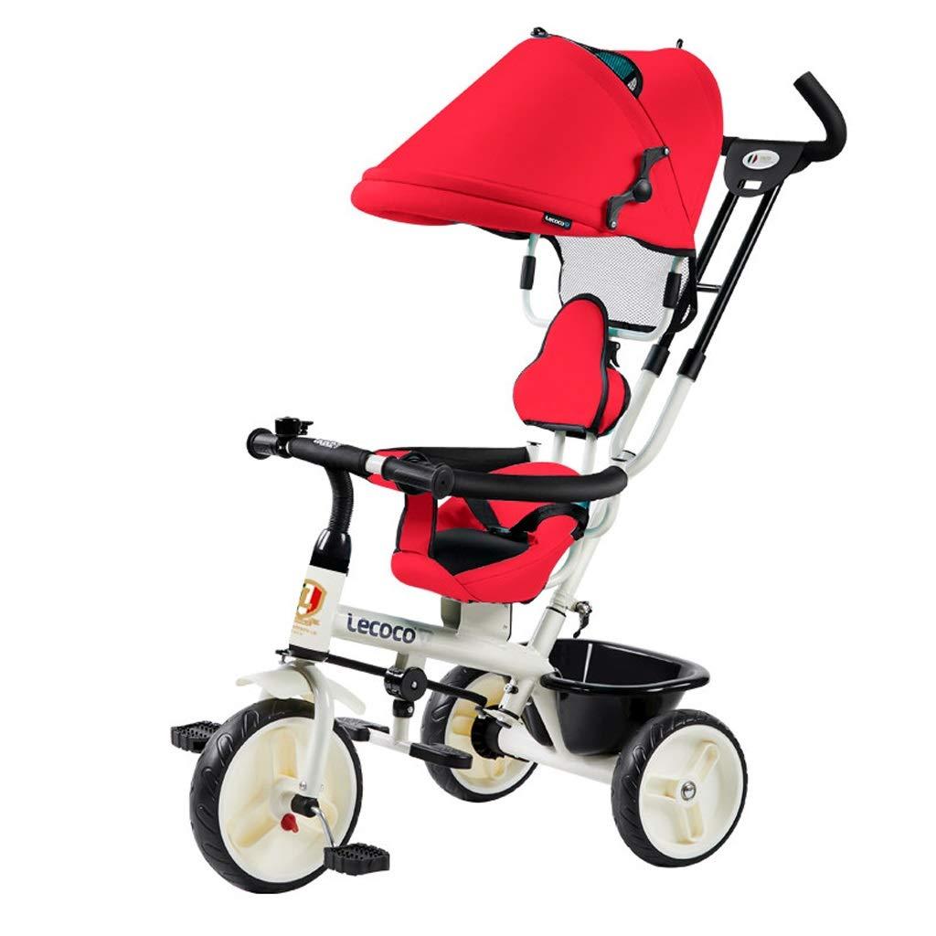 子供の三輪車子供の自転車ベビーカーファッション1-3歳子供のトロリーアウトトロリー日よけ   自転車サンプロテクションサンシェード (Color : Red)  Red B07QQJRRNC