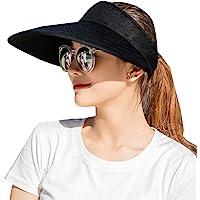 CAMOLAND Sombreros de Visera para Mujer, 5,5 Pulgadas, Gran Brida, protección UV, para Verano, para Playa