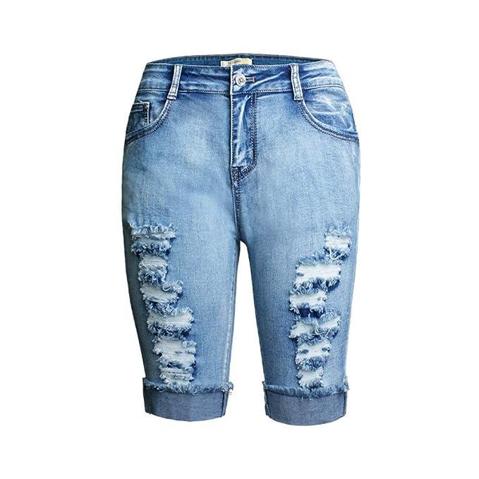 Ruanyi Hot Sexy Elástico Lavar Pantalones Cortos de ...