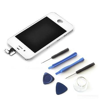 Smartex Pantalla Blanco Compatible con iPhone 4S / Pantalla LCD con Retina táctil + Kit de Herramienta de desmontaje: Amazon.es: Electrónica