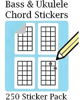 Sello para practicar los acordes de la guitarra, bajo, ukelele y ...