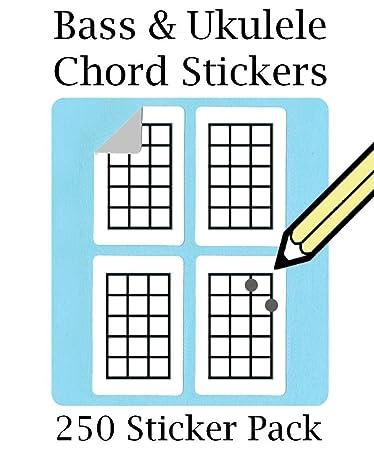Amazon Ukulele Chord Tablature Stickers Set 250 Sticker Pack