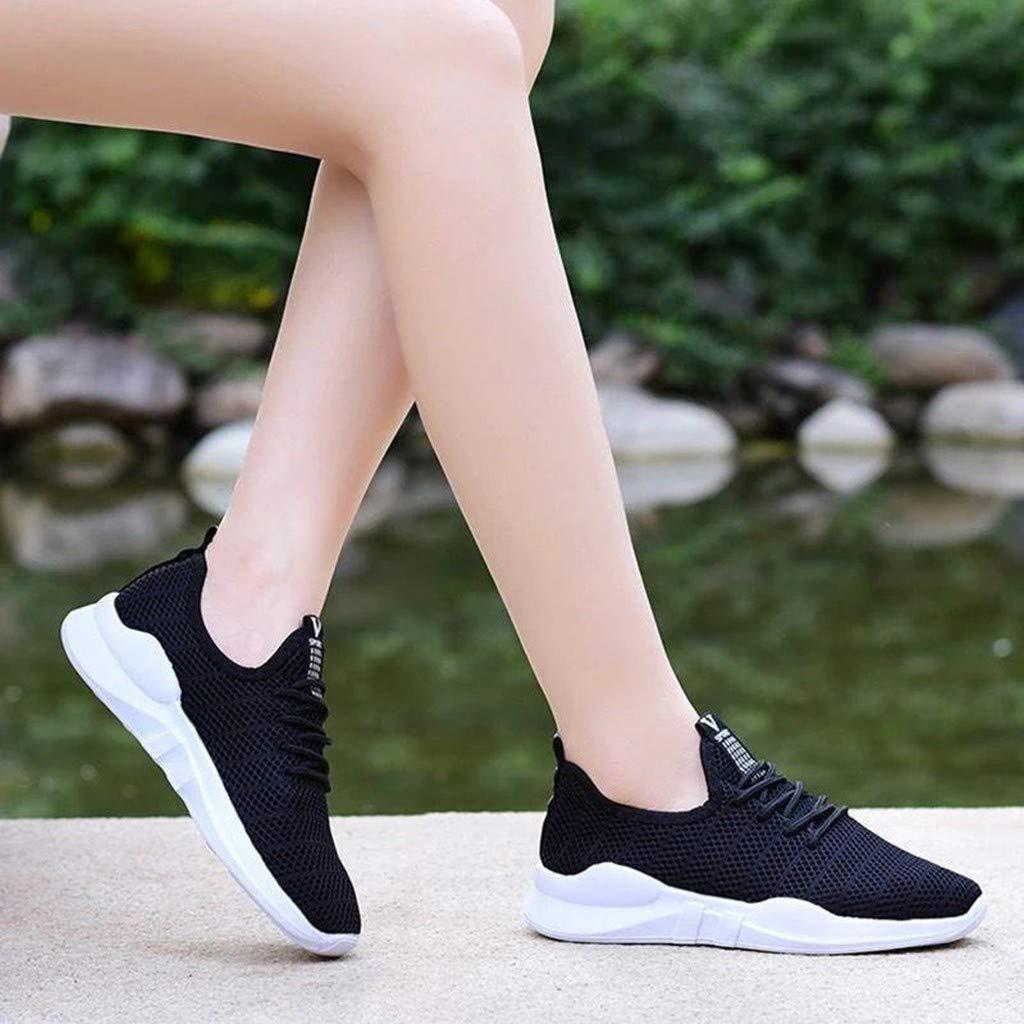 YWLINK Malla Casual para Mujer Zapatos Casuales Ligeros Antideslizantes Zapatillas Deportivas Corriendo Transpirable Ciclismo El F/úTbol Monta/ñIsmo Viajes Al Aire Libre Yoga