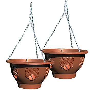 Ultimate Hanging Baskets   Strawberry, Tomato, Flower, And Herb Outdoor  Planters   Use