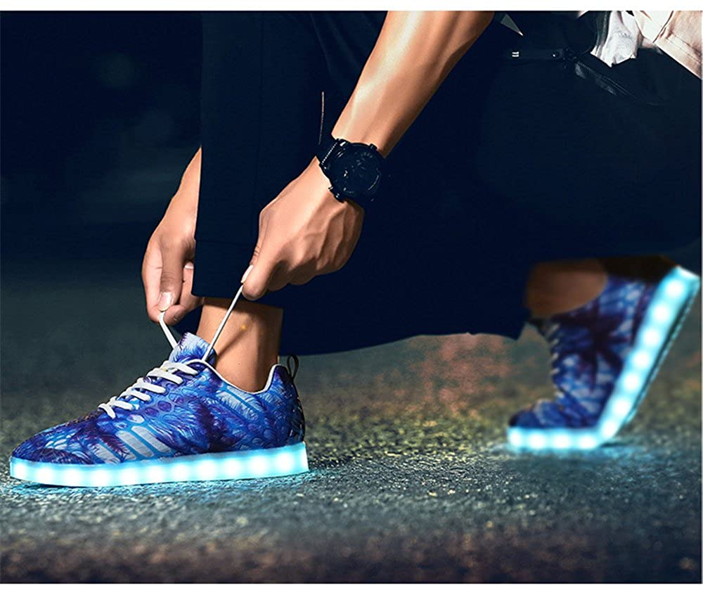 Men's/Women's coollight Girls Kids Boys Girls coollight USB Charger Colors LED Lights Luminous Sports Shoes Sneaker Athletic Wings Trainers High-Top Shoes Complete specification range Upper material Speed refund BB22976 fc03ee