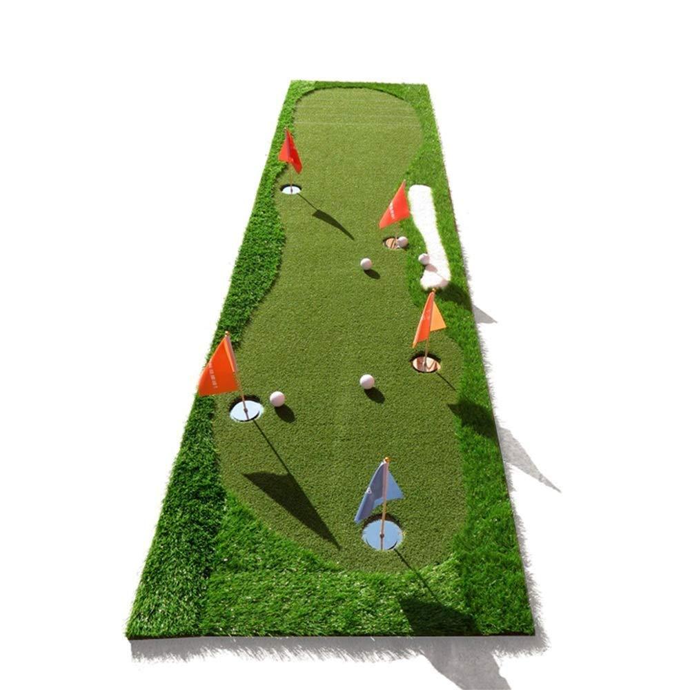 ゴルフマット住宅練習パッティングマット打撃マットラバーティーホルダーポータブルアウトドアスポーツゴルフトレーニングターフマット屋内オフィス機器   B07RHZ25YJ