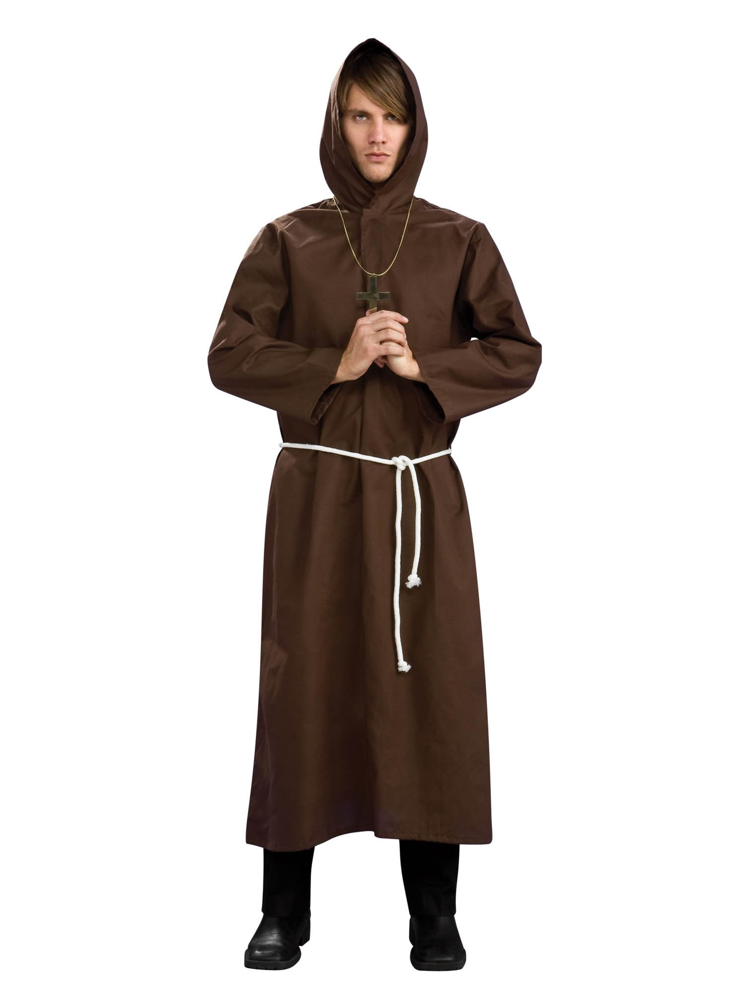 Rubie's Men's Monk Robe Costume, Brown, X-Large