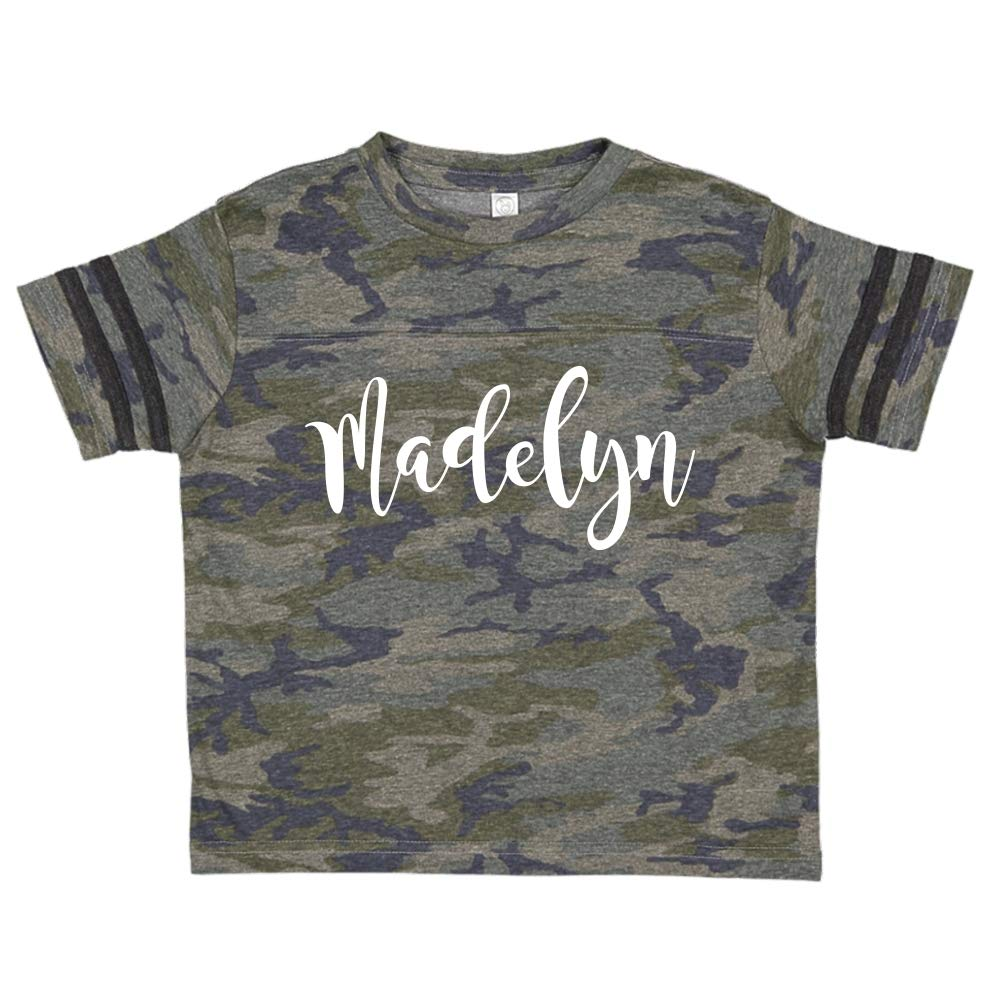 Mashed Clothing Madelyn Personalized Name Toddler//Kids Sporty T-Shirt