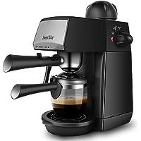 Sweet Alice Espressomaschine,5 Bar Kaffeemaschine Elektrische, 240ml Espressomaschine Fur Cappuccino und Latte, Milchbehälter und Edelstahl (4 Tassen, 800W)