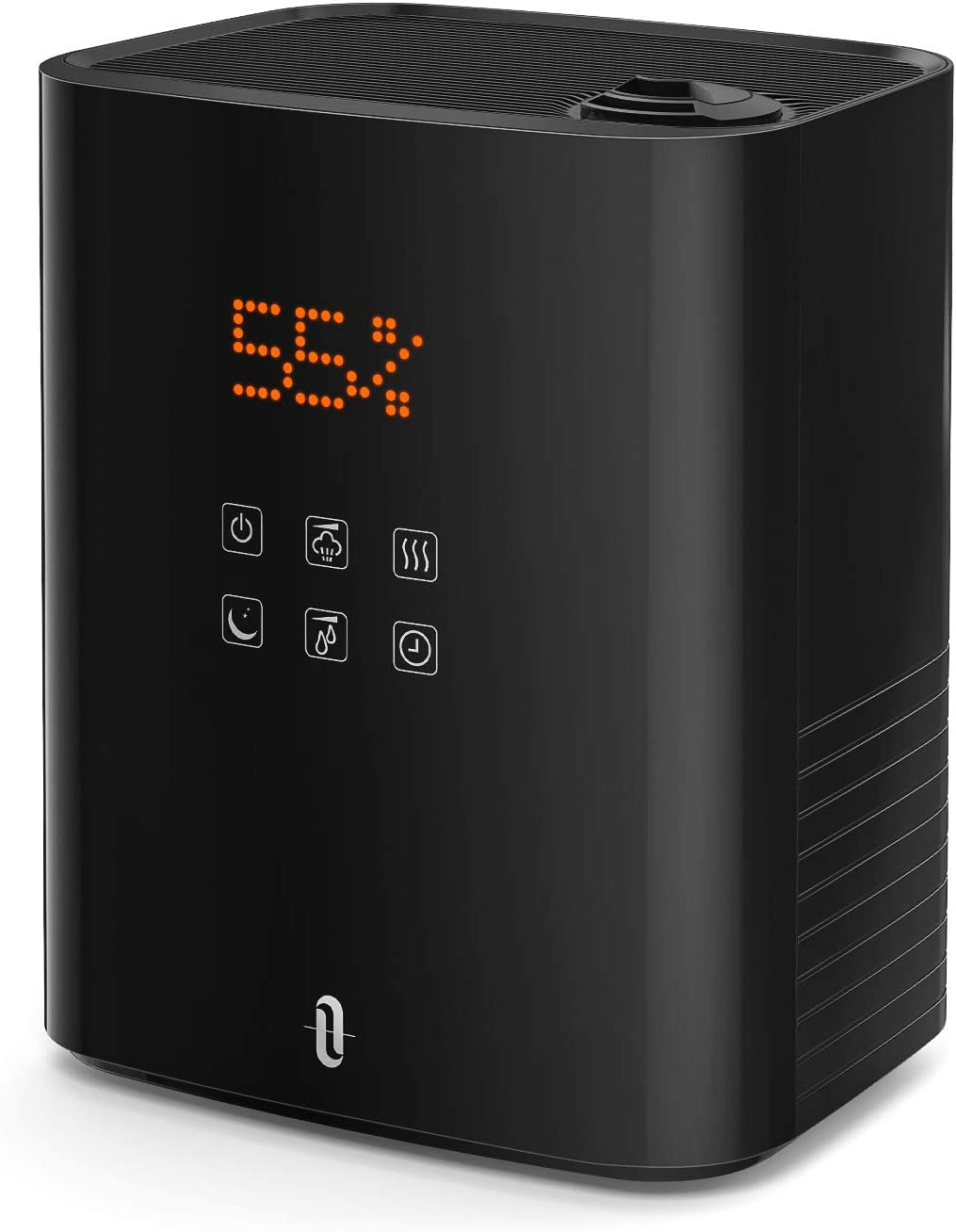 TaoTronics Warm and Cool Mist Humidifiers, 5.5L Top Fill Humidifier for Bedroom Large Room Baby, Separate Tank, Customized Humidity, Sleep Mode, LED Display, Auto Shut-Off