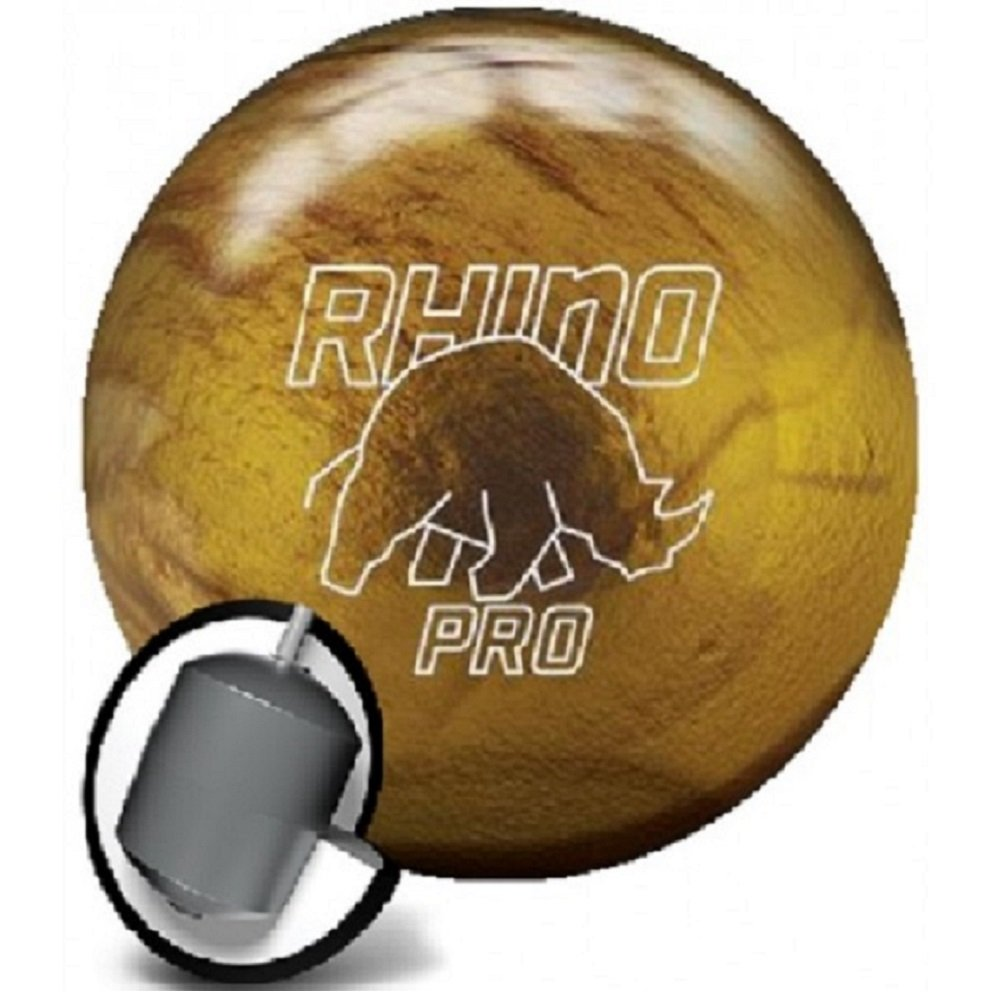 BrunswickヴィンテージゴールドRhino Proボーリングボール B00SZ98XCK  15 lbs