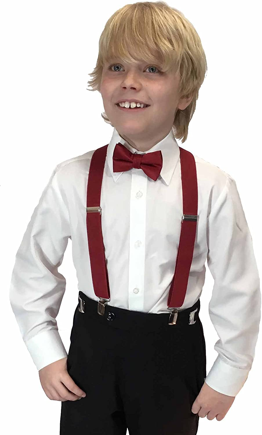 Spencer J's Boys X Back Suspenders & Bowtie Set Variety of Colors