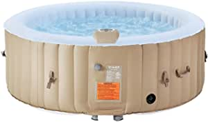 """U-MAX Inflatable Hot Tub, 2-4 Person Portable SPA Blow Up Hot Tub with Built in Heater and Bubble Function (Roundness, 71"""" x 25"""")"""