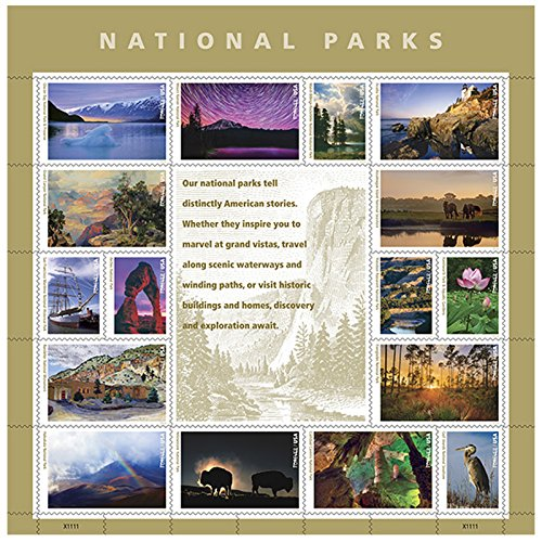national-parks-usps-forever-stamps-sheet-of-16-postage-stamps-2016