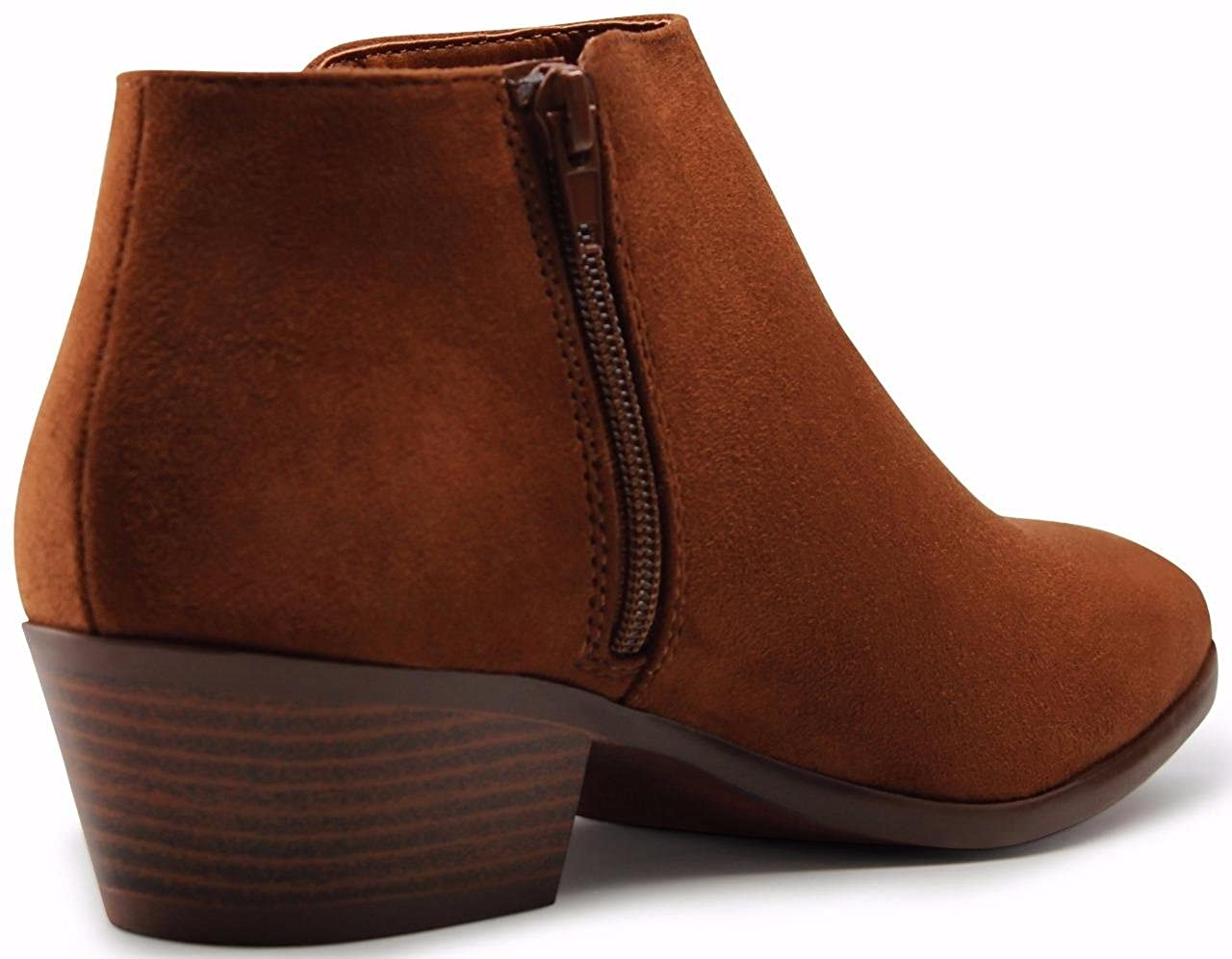 4873e84a3616 Amazon.com   MARCOREPUBLIC Marco Republic Madrid Womens Medium Low Heels  Ankle Booties Boots - (Cognac) - 8   Boots