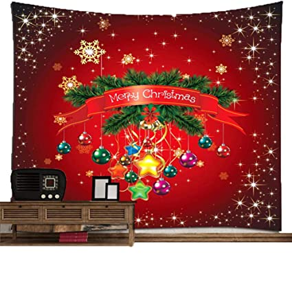 H&RB Tapiz De Navidad De La Serie De Impresión De Pared Decorativa Toalla De Playa Toalla