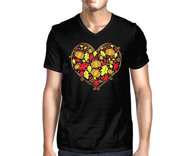 5dec1966 Amazon.com: HAASE UNLIMITED Men's Autumn Heart V-Neck T-Shirt: Clothing