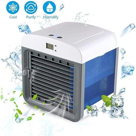 ZUEN Aire Acondicionado portátil Personal, Pantalla USB, Aire ártico, purificador de humidificador de Aire, Ventilador de la Oficina de Espacio Personal Ventilador de enfriamiento de Aire: Amazon.es: Deportes y aire libre