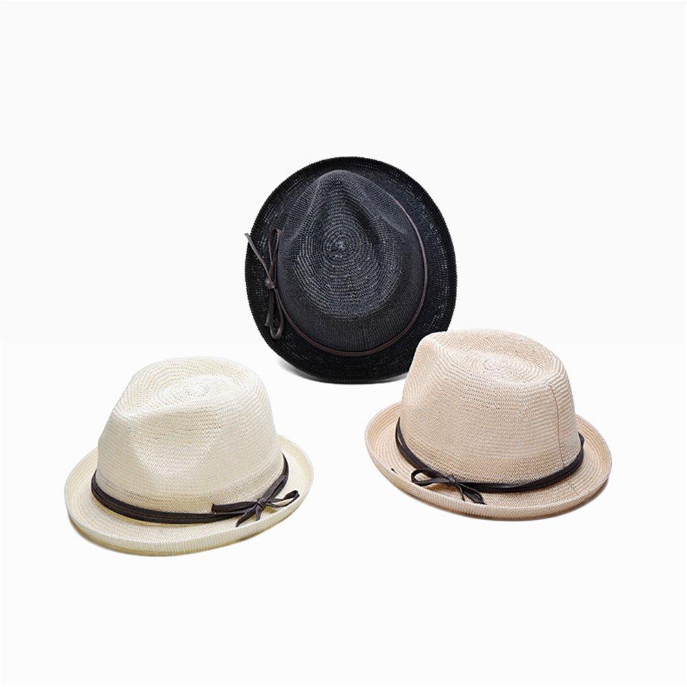 Cappello Borsalino per la Primavera Estate Uomo Ragazzi Fedora Tinta Unita Ultra Traspirante Cappelli Solare