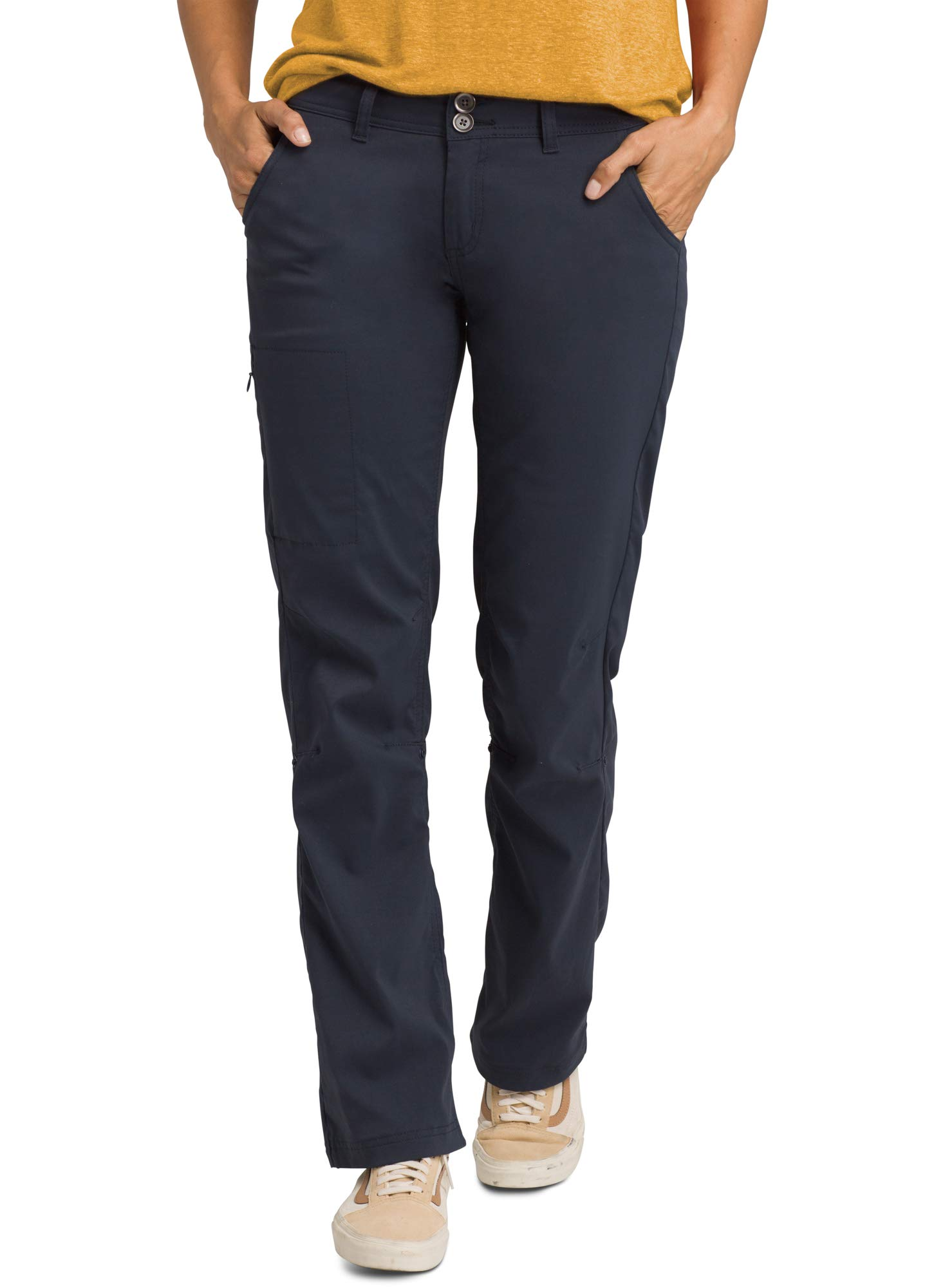 prAna - Women's Halle Roll-up, Water-Repellent Stretch Pants for Hiking and Everyday Wear, Tall Inseam, Nautical, 14 by prAna