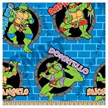 """1-1/2 Yards - Teenage Mutant Ninja Turtles """"Half Shell"""" Fleece Fabric - Officially Licensed (Great for Quilting, Throws, Sewing, Craft Projects, Wall Hangings, and More) 1-1/2 Yard x 60"""""""