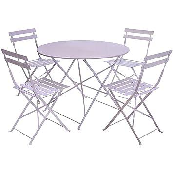 Amazon.de: Charles Bentley Gartenmöbel-Set für Terrasse - 1 runder ...