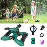 Morfone Lawn Sprinkler, Garden Sprinkler Automatic 360° Rotating Irrigation System Water Sprinklers for Garden, Yards, Kids, 3600 Square Feet Coverage