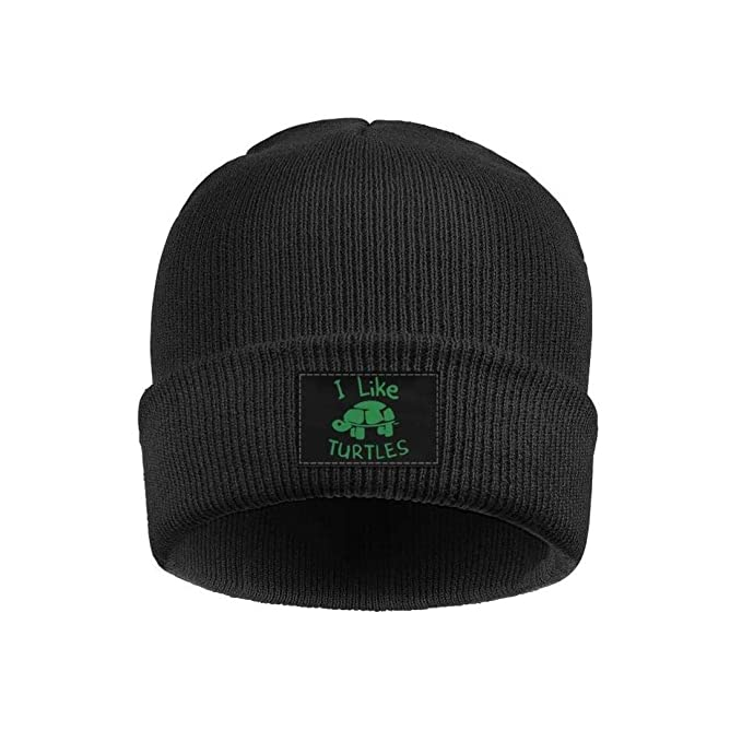 Unisex I Like Turtles Outdoor Fashion Knit Beanies Hat Soft Winter Knit Caps