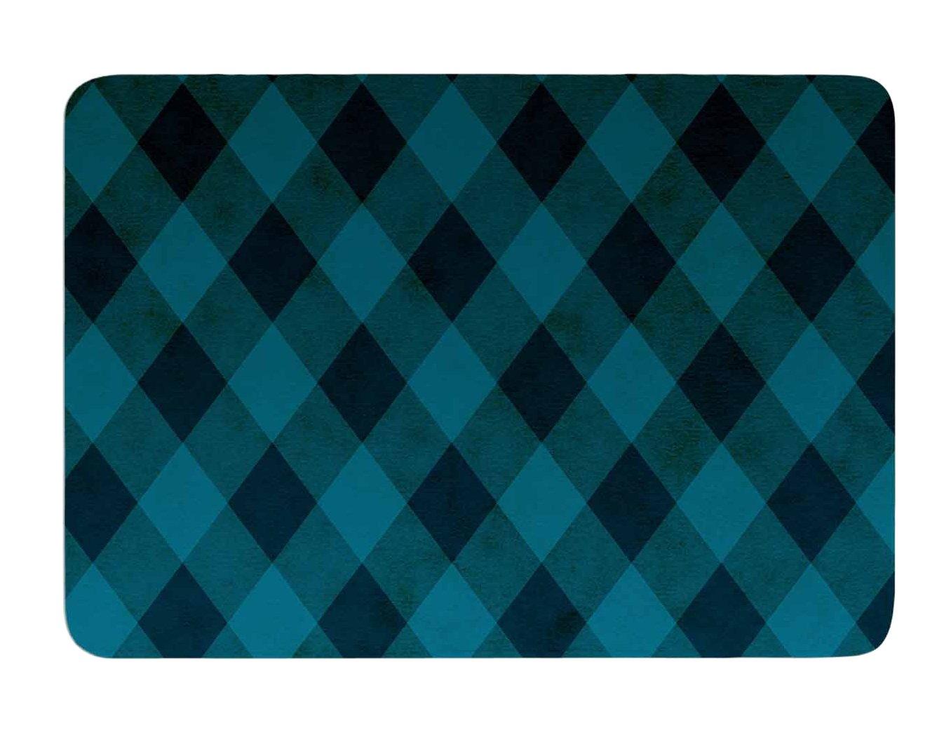 24 by 36-Inch Kess InHouse Matt Eklund deep Current Blue Pattern Memory Foam Bath Mat 24 X 36