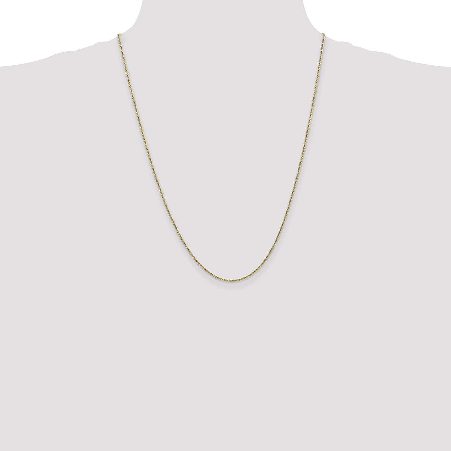 10k Yellow Gold 1.5mm Cable Chain 9 inch 30 inch Fine Jewelry Ideal Gifts For Women