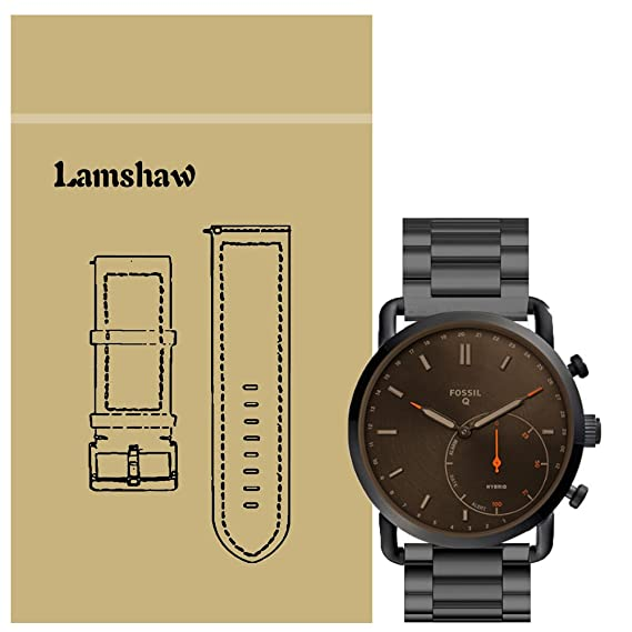 Amazon Com For Fossil Q Commuter Band Lamshaw Stainless Steel