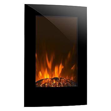 Klarstein Lausanne Vertical Chimenea de Pared • Calefactor eléctrico • Potencia de Calor Opcional: 1000