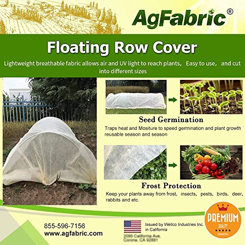 Agfabric Warm Worth Super-Heavy Floating Row Cover & Plant Blanket, 1.5oz Fabric 10x100ft Frost Protection & Harsh Weather Resistance, Tan