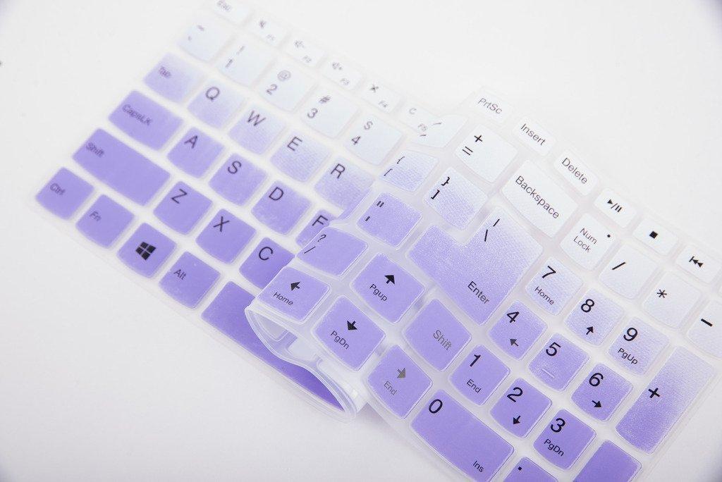 Ultra Thin Silicone Keyboard Cover Skin Protector for Lenovo ideaPad 510 15.6,ideapad 110 15.6 17.3,ideapad 310 15.6 Leze Black Flex 4 15 Laptop
