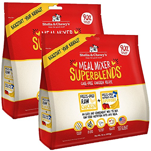 Stella & Chewy's Freeze-Dried Raw Meal Mixer SuperBlends Cage-Free Chicken Recipe Grain-Free Dog Food Topper, 32 oz bag
