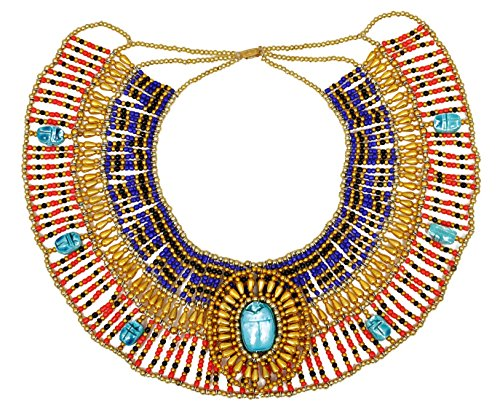 Cleopatra Necklace Collar ancient Egyptian queen costume jewelry belly dance